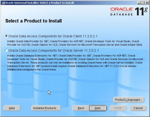Oracle Data Access Components for Oracle Client 11.2.0.2.1