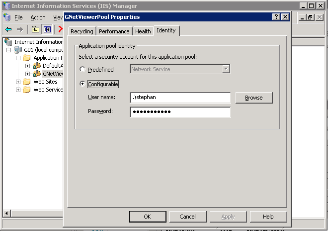 Intergraph Netviewer application pool